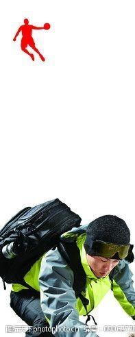 登山的男人乔丹冬装宣传海报图片