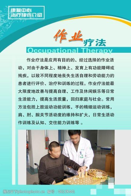 作业疗法医院康复中心展板