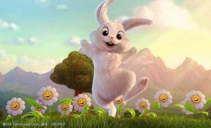欢乐的兔子图片
