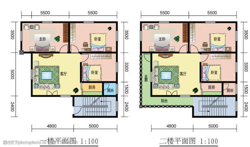 个人房屋平面图户型平面图图片