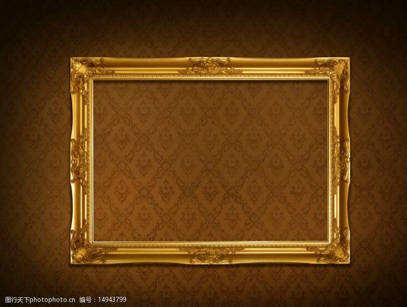 古典时尚设计金色相框边框图片