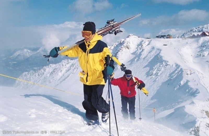 滑雪板冬季运动登山滑雪图片