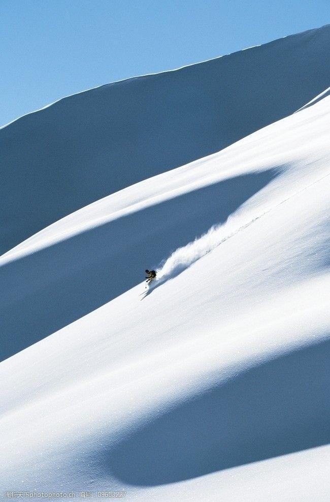 滑雪板冬季运动雪山滑雪图片