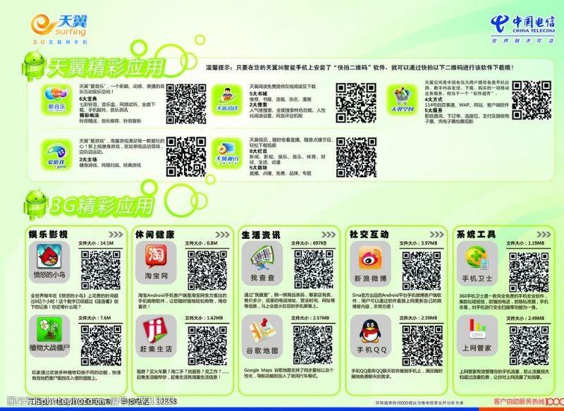 8管管天翼3G应用